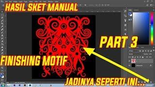 Перемалювати мотив Даяк з skect вручну, використовуючи PENTOOL в Photoshop частина 3 FINSIHING мотив