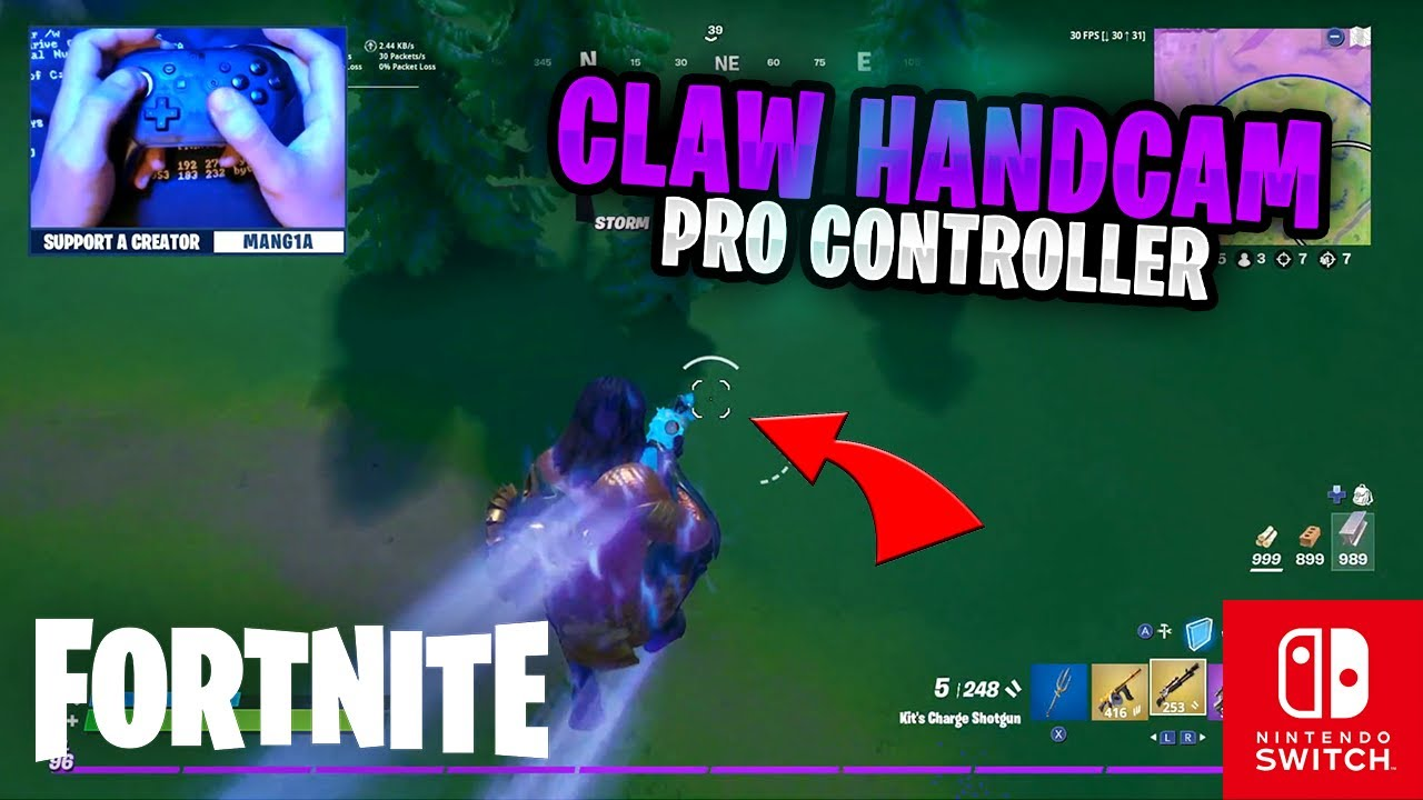 CLAW HANDCAM - Fortnite on the Nintendo Switch Pro Controller #89