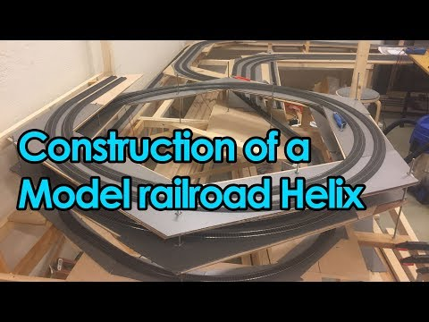 Construction of a model railroad helix - Time-lapse [Trainroom