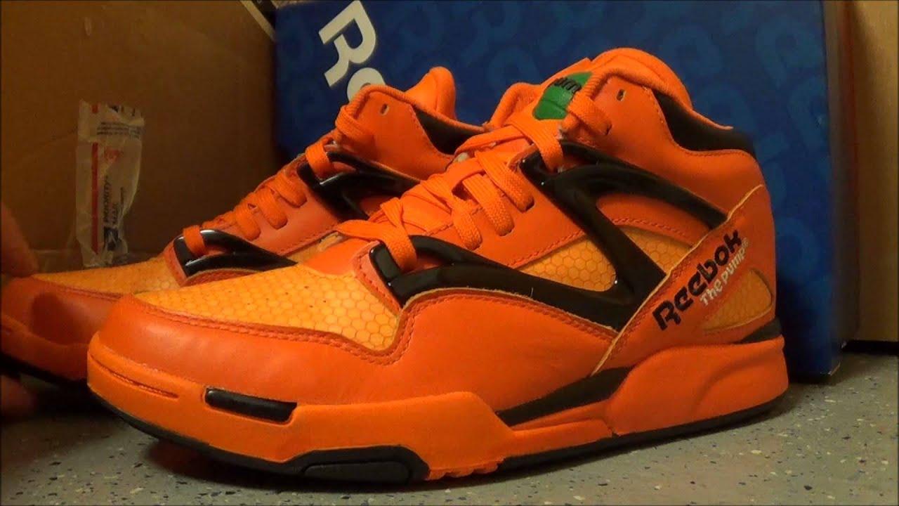 Reebok Pumpkin Halloween Pump Omni Lite Glow In The Dark Sneaker Review +  On Feet W   DjDelz 1d7b06054