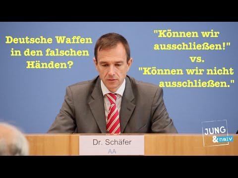 Die Bundesregierung zu deutschen Waffen in den falschen Händen...