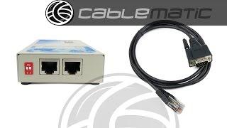 Servidor IP serie VSCOM Netcom 211 RS232 de 2 puertos distribuido por CABLEMATIC ®