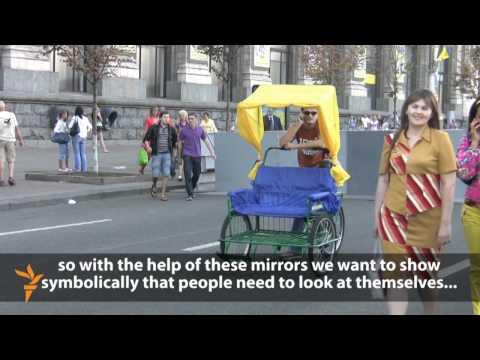 Independence Day Flash-Mob In Ukraine (Radio Free Europe / Radio Liberty)
