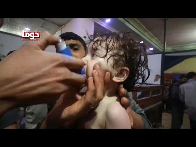 At least 70 dead after suspected gas attack in Syria