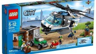 Обзор набора LEGO City 60046 Вертолет Наблюдения(Тип классический Материал полимер (пластик) Пол для мальчика Возраст от 5 до 12 лет Контейнер для хранения..., 2015-02-09T10:39:19.000Z)