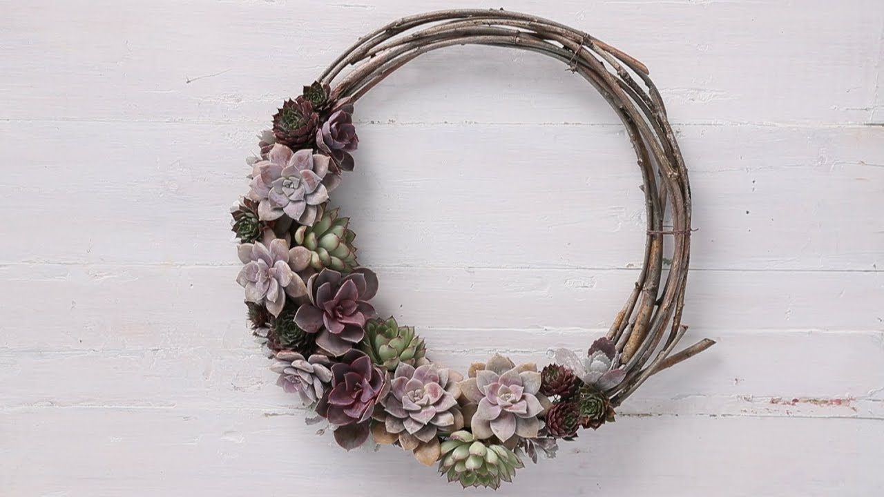 How To Make A Succulent Wreath Sunset