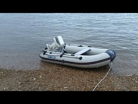 Johnson 5hp Outboard Amp Yam 265s Inflatable Boat Youtube