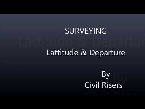 survey :how to find latitude & departure by bowditch rule