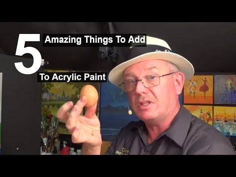 5 Amazing things to add to acrylic paint   Life Hacks   Acrylic painting #clive5art