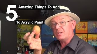 5 Amazing things to add to acrylic paint | Life Hacks | Acrylic painting|#clive5art