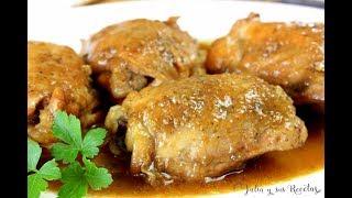 Cómo hacer contramuslos de pollo a la miel | MUY SABROSO!!