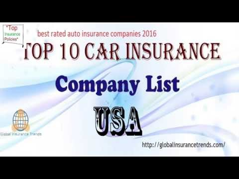 Best Rated Auto Insurance Companies In USA2016