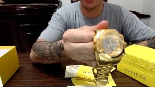 UNBOXING: Relogio Invicta Bolt Zeus Gold Skeleton