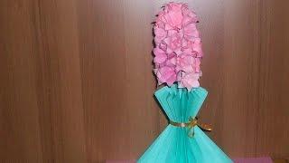 Как Сделать Подарок Маме Своими Руками На День Рождения. Красивый Цветок Из Бумаги. Origami Hyacinth(Показываю и рассказываю, как сделать красивый подарок маме на день рождения своими руками. Для этого подарк..., 2014-03-03T21:53:38.000Z)