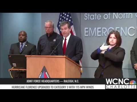 Gov. Roy Cooper updates Hurricane Florence preparations in North Carolina
