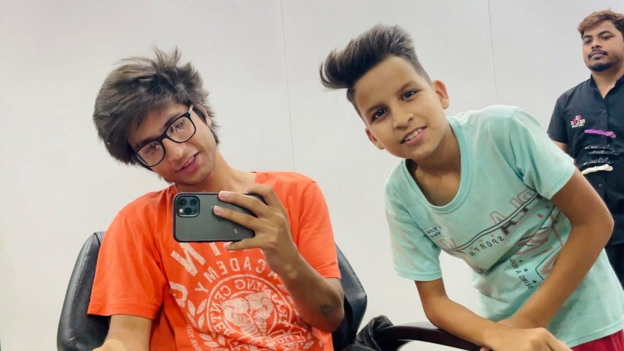 Piyush Or Mera New Hair Cut 😂