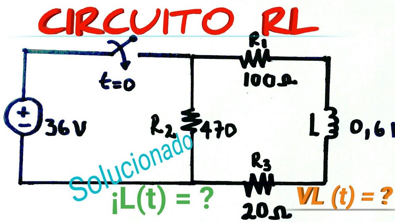 Circuito Rl : Circuito rl respuesta total análisis transitorio ejercicio