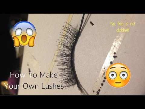 How To Make Your Own Lashes! *Not Clickbait*- Giamoni Cooper