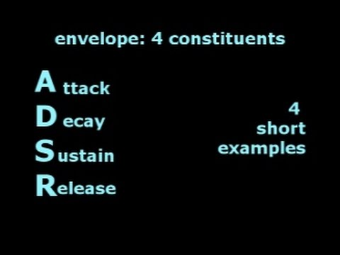 Timbre: envelope ADSR, 4 examples