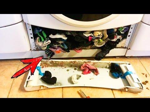Как пропадают носки в стиральной машине видео