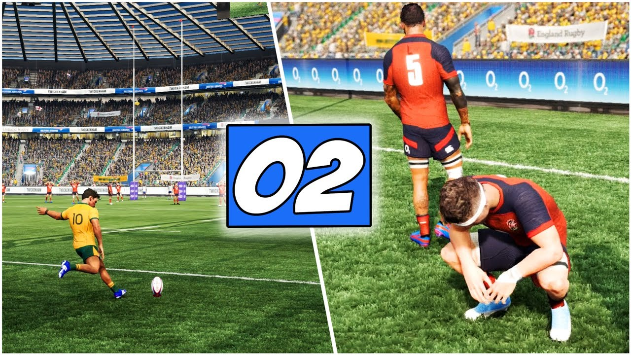 "Rugby Challenge 4 ""How To Play"" Gameplay *UPDATING THE SETTINGS* England Vs Australia 