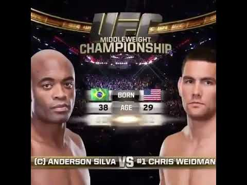 Anderson 'the spider' silva vs Chris weidman  highlight