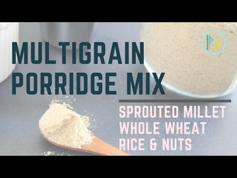 Homemade sprouted grain porridge mix recipe| Indian health drink | Kids breakfast drink recipe