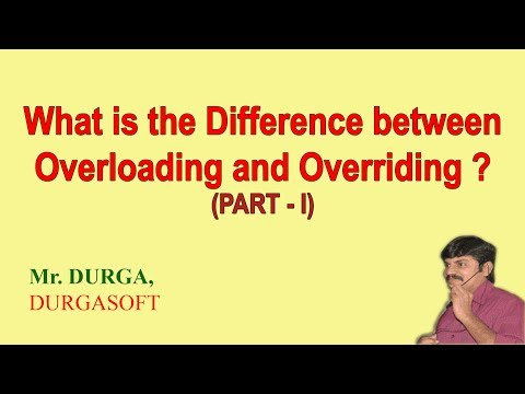 Difference between Overloading and Overriding (part-I)