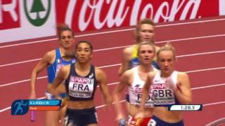 Бронза сборной Украины в эстафете 4х400 женщины. Белград-2017, зимний чемпионат Европы. 3:32.10