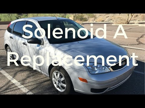 Replacing shift solenoid A in 2005 Ford Focus P0732