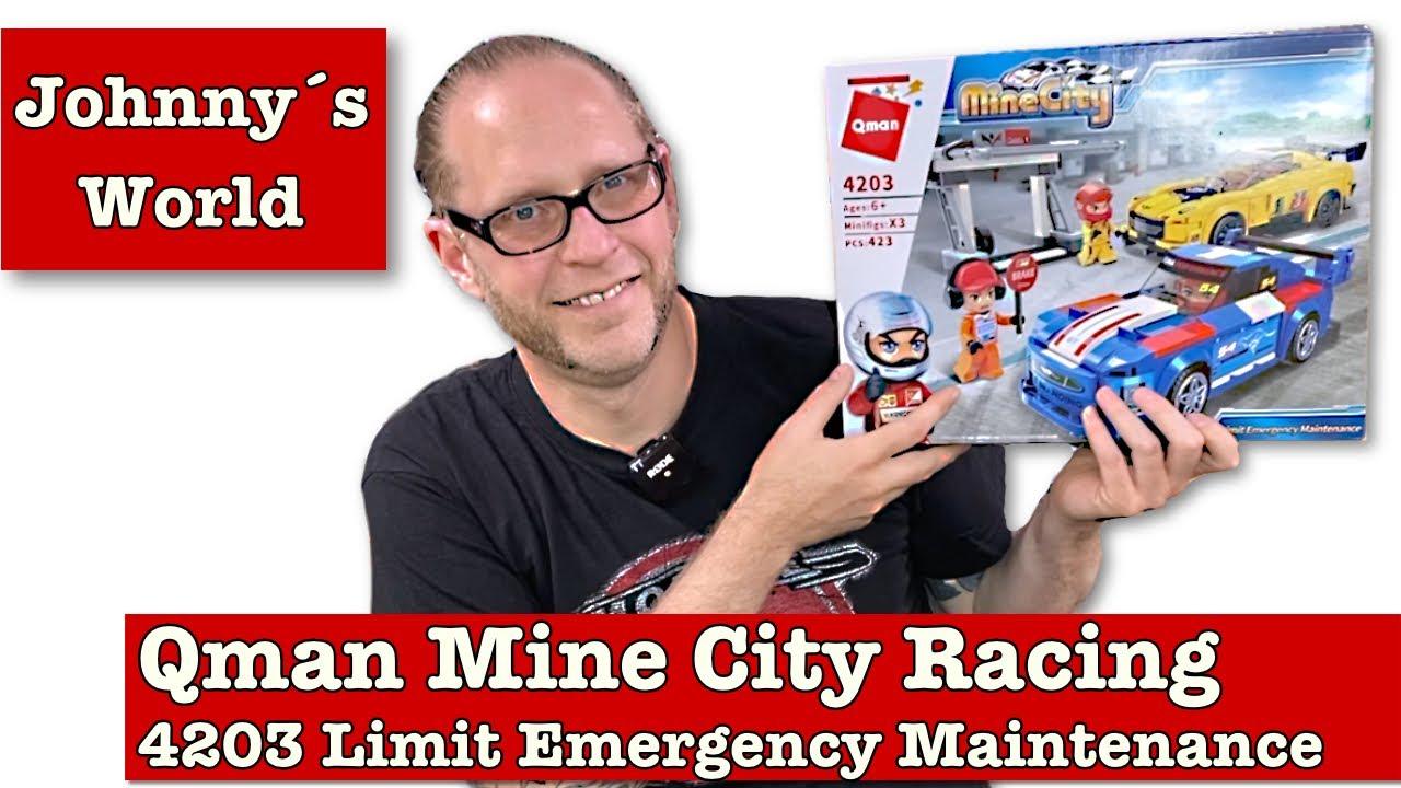 "Qman 4203 Mine City Racing Car ""Limit Emergancy Maintenance"""