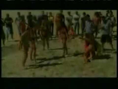 Bikini sand wrestling