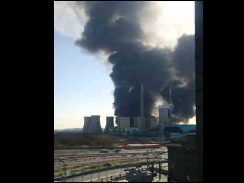 Power plant catches fire in Beijing