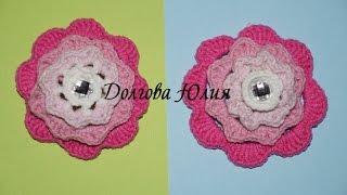 Вязание крючком. Цветок Ирландская РОЗА  \\\  Crochet for beginners. Irish Rose Flower(Вязание крючком для начинающих. Цветок Ирландская РОЗА http://youtu.be/4HJwtQdWdBQ Вязание крючком для начинающих...., 2015-01-25T13:52:43.000Z)