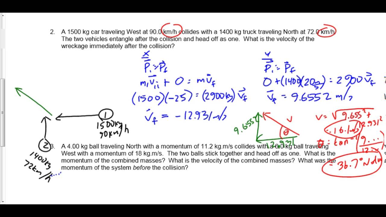 117-P3016F) Check 2D Collision Worksheet - YouTube