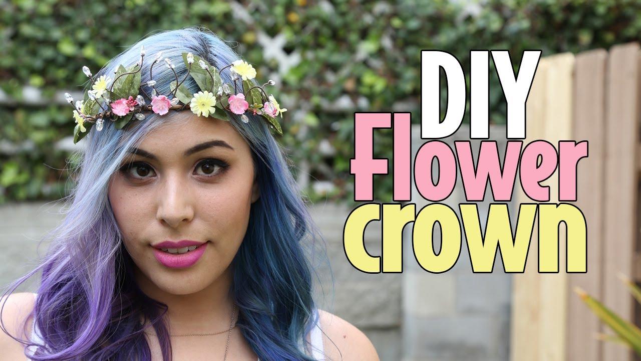 Diy Flower Crown Youtube