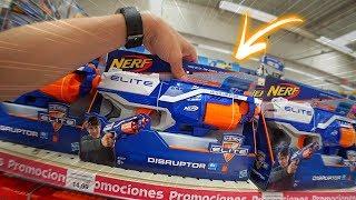 Comprando Nerfs Na Loja De Brinquedos Toys R Us!! Nerf Guns Strongarm E Disrupto