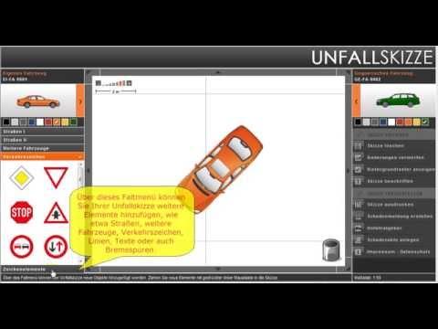 Unfallskizze online erstellen - YouTube