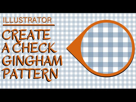 Create a Gingham Check Pattern in Illustrator - Making Seamless Tiling Patterns