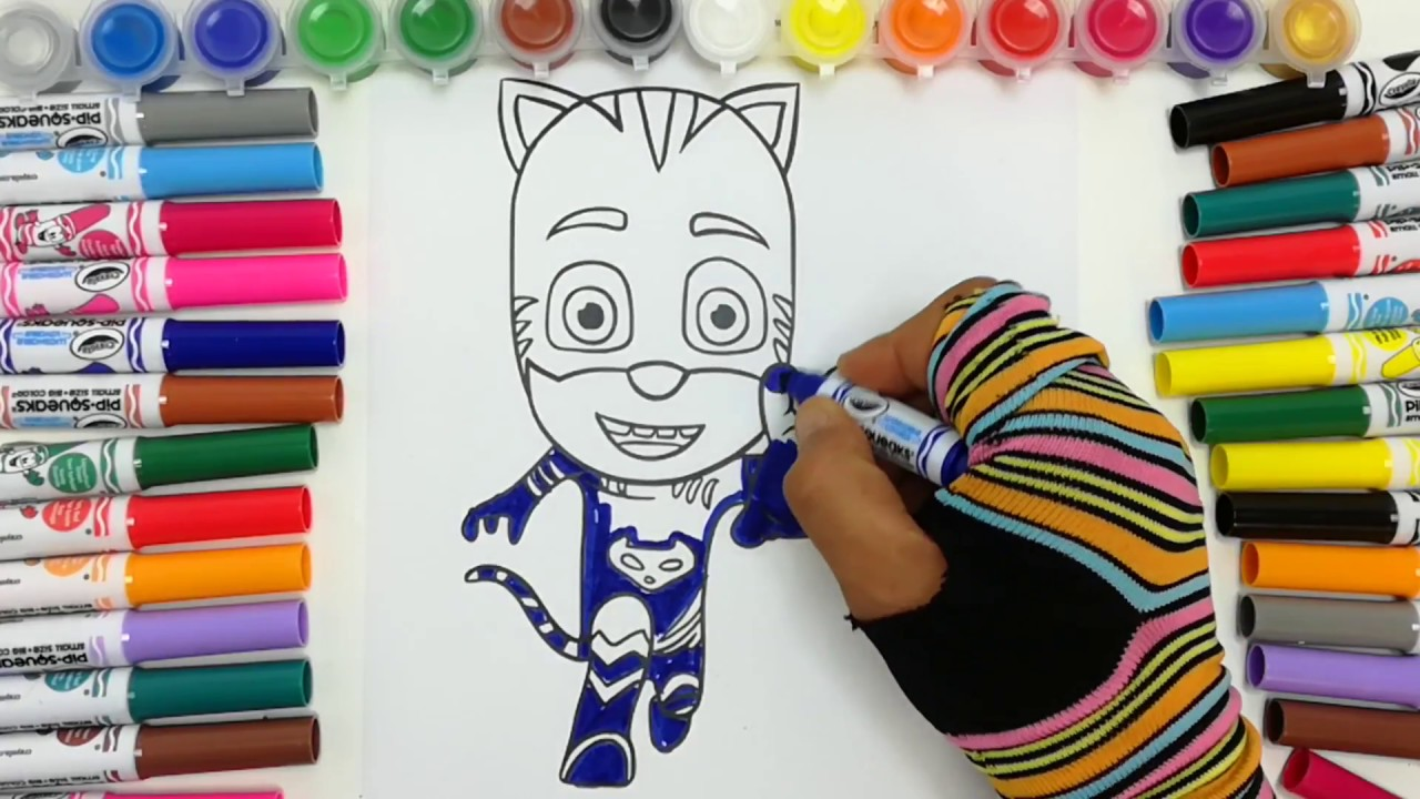 Super pigiamini da colorare pj masks paint gattoboy for Immagini super pigiamini da stampare