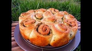 Съедают до последней крошки Отрывной чесночный хлеб классный рецепт домашней выпечки