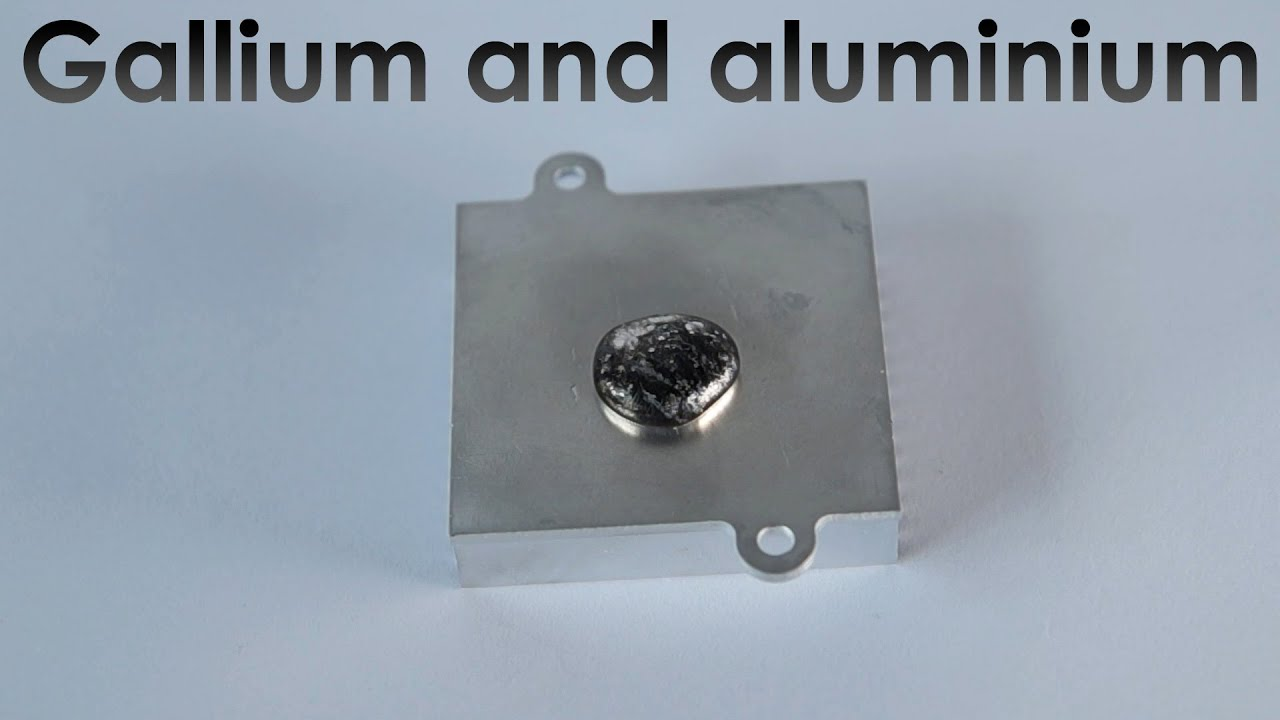 Reaction of Liquid Gallium with Aluminium