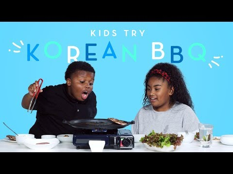 Kids Try Korean BBQ | Kids Try | HiHo Kids