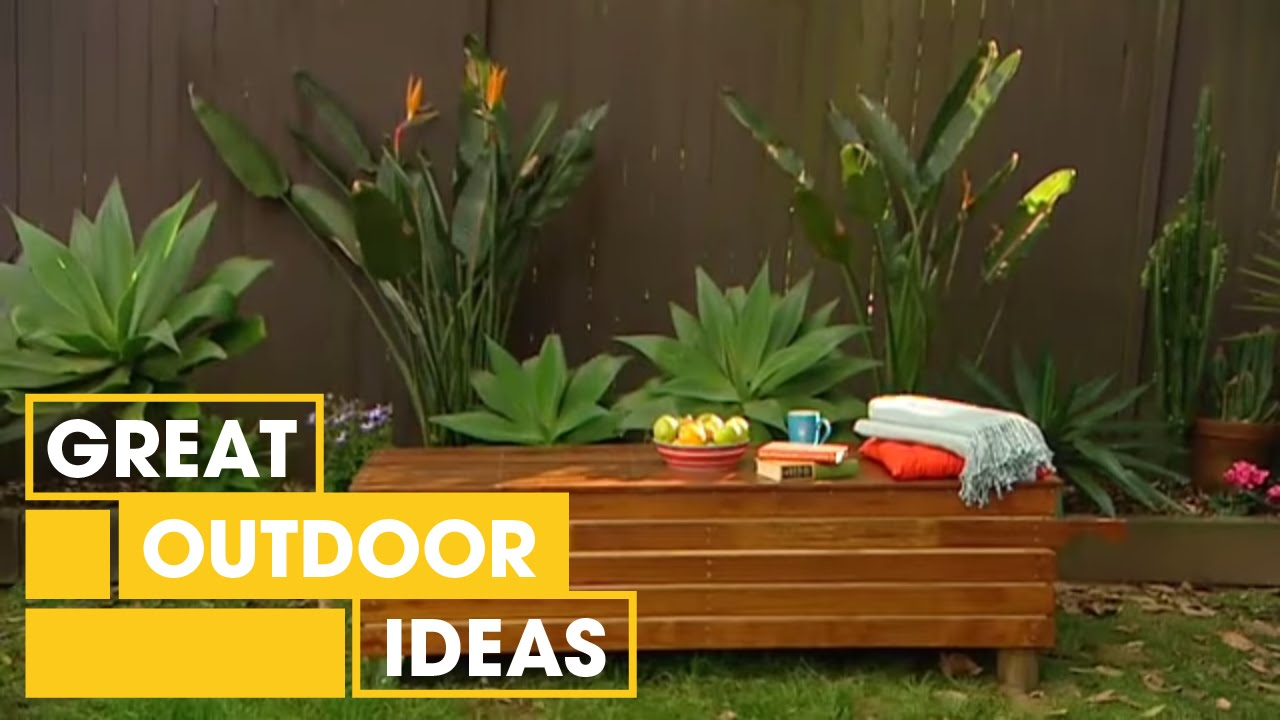 How To Build A Garden Bench Youtube