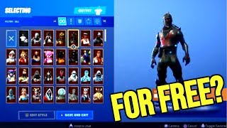 FORTNITE STACKED ACCOUNT FOR FREE!? BLACK NIGHT AND PURPLE SKULL TROOPER!! GIVEAWAY FOR 300 SUBS!!!!