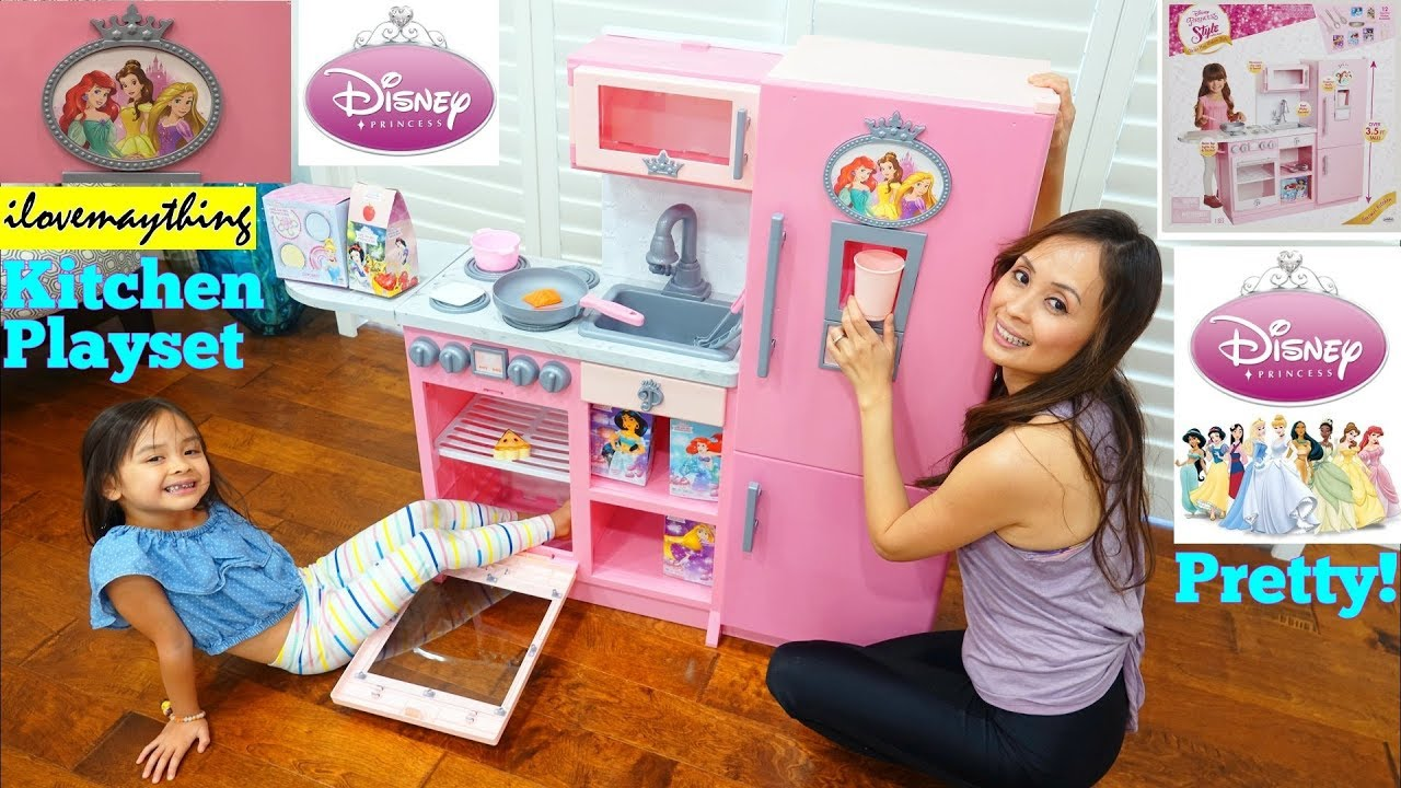 Toy Channel Cooking Toys For Kids Disney Princess Style Collection Gourmet Kitchen Play Set Youtube