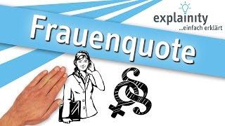 Frauenquote einfach erklärt (explainity® Erklärvideo)