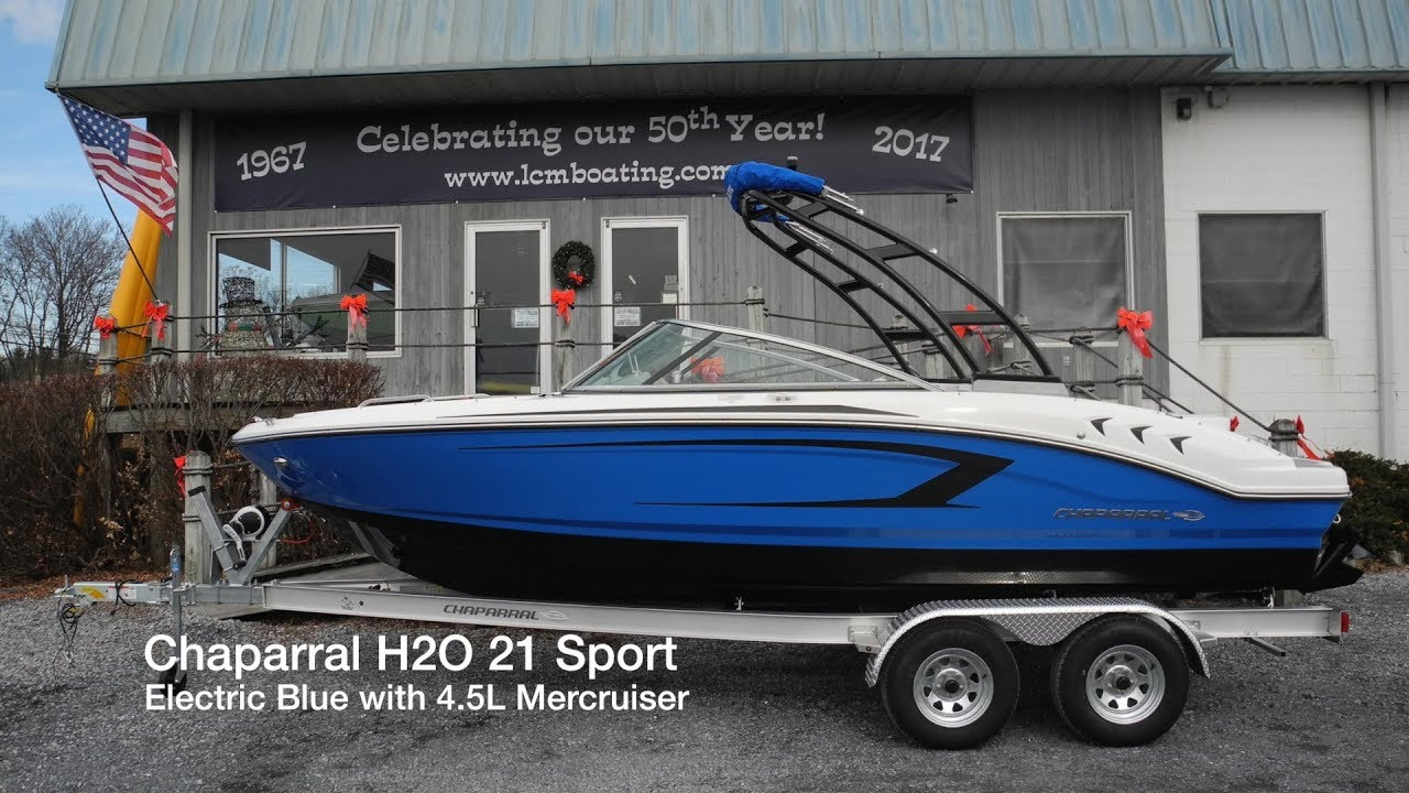 Chaparral H2o 21 Sport Electric Blue Boat For Sale Sold