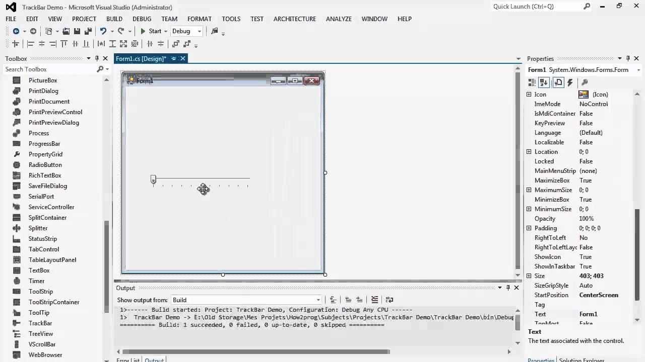 62. برمجة الواجهات - شريط التمرير TrackBar