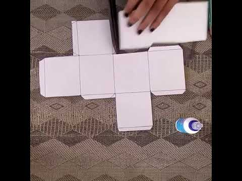 How to make easy 3D cube with paper at home